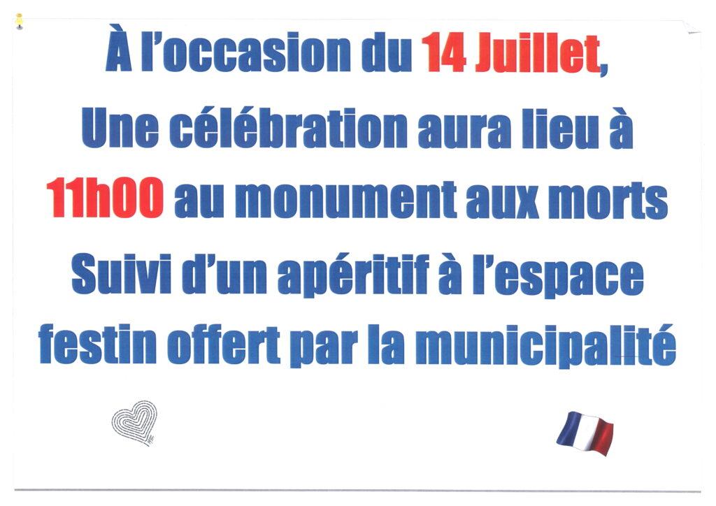 Célébration du 14 Juillet